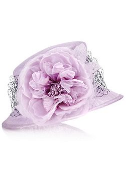 Small Brim Flower Hat