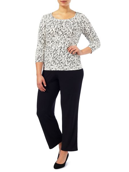 Windsmoor Monochrome Bark Print Top