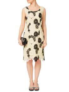Jacques Vert Petite Monochrome Lace Dress