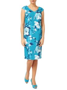 Jacques Vert Large Med Flower Print Dress