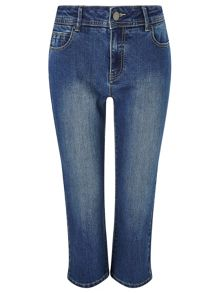 Dash Denim Mid Wash Crop Jean