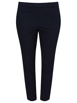 Navy Cropped Trouser