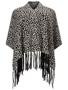 Windsmoor Animal Print Poncho