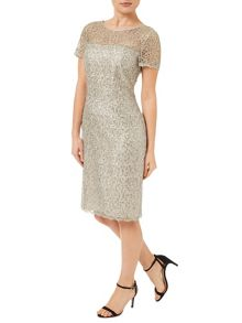 Oyster Sequin Lace Dress