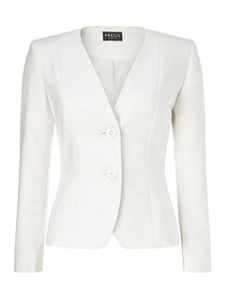 Ivory Cotton Stretch Jacket