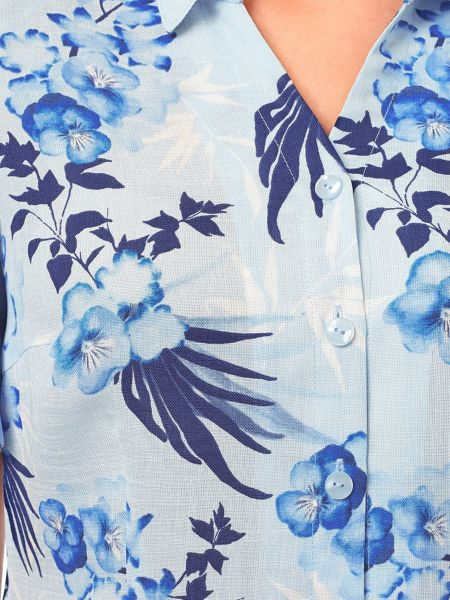 Eastex Pansy Palm Blouse