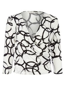 Precis Petite Jeff Banks Circle Print Top