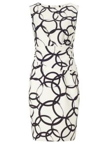 Precis Petite Jeff Banks  Circle Print Dress