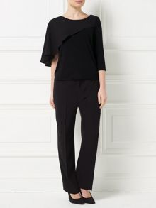 Precis Petite Jeff Banks Black Cape Top