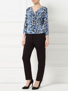 Precis Petite Jeff Banks Scribble Print Top