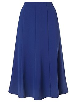 Crepe Fit And Flare Skirt