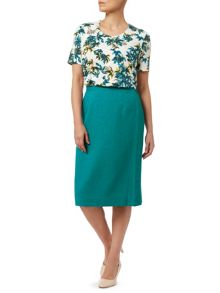 Eastex Basket Weave Pencil Skirt