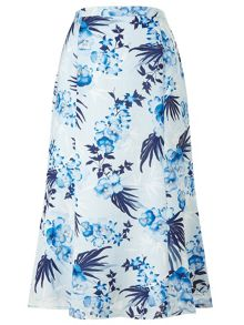 Eastex Pansy Palm Bloom Skirt