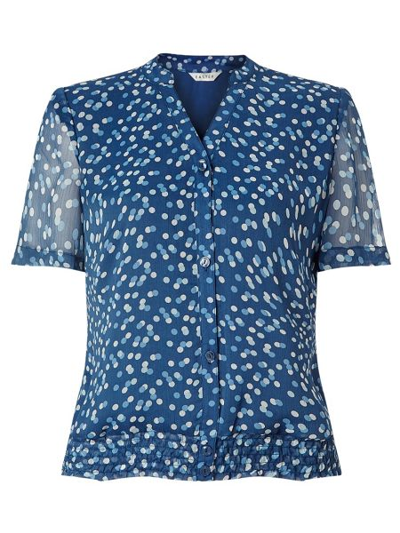 Eastex Spot Shirred Hem Blouse