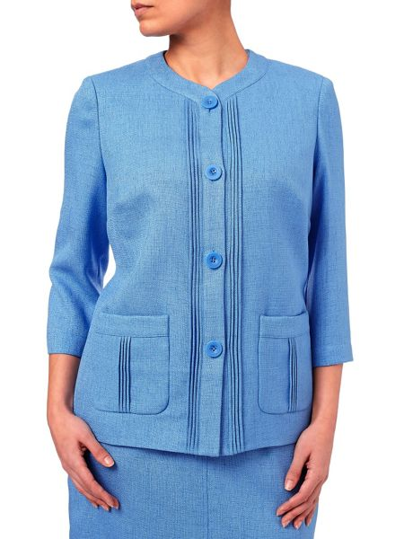 Eastex Basket Weave Round Neck Jacket