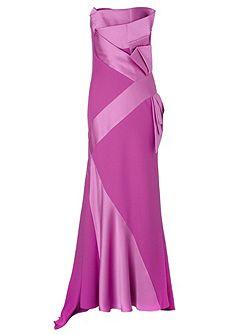 Lorcan Satin Crepe Bow Gown