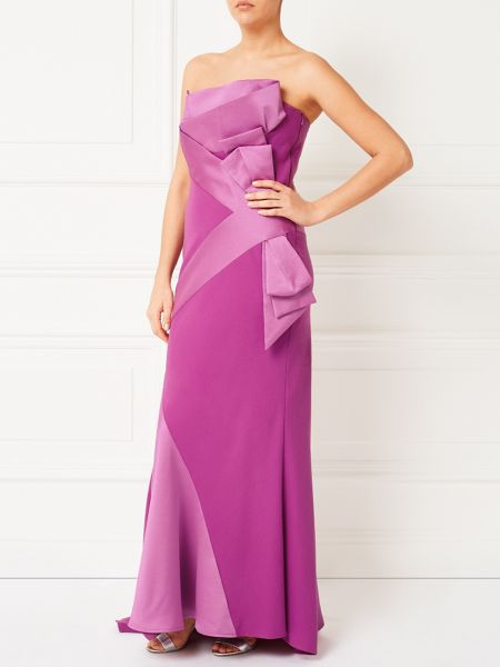 Jacques Vert Lorcan Satin Crepe Bow Gown