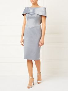 Jacques Vert Lorcan Bardot Bow Back Dress