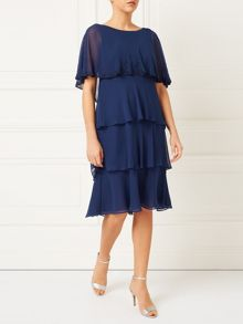 Jacques Vert Lorcan Layers Chiffon Dress