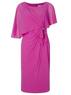 Lorcan Bow Sided Capelet Dress