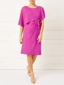 Jacques Vert Lorcan Bow Sided Capelet Dress
