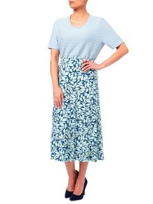 Eastex Chelsea Leaf Jersey Skirt