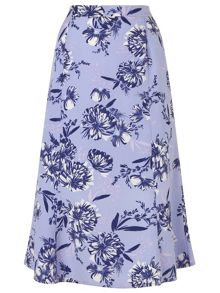 Eastex Wisteria Floral Skirt