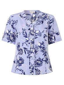 Eastex Wisteria Floral Blouse