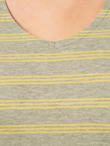 Dash Grey And Yellow Stripe Top