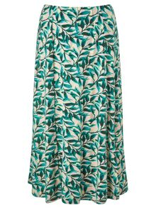 Eastex Painterly Leaf Jersey Skirt