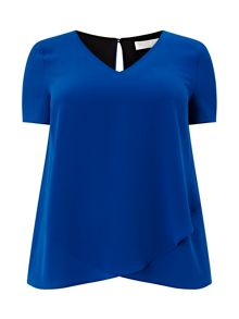 Jersey Woven Layered Top