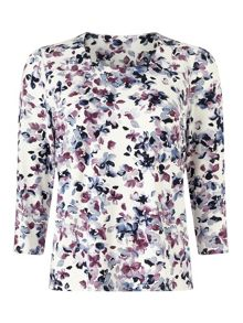 Eastex Mini Watercolour Floral Top