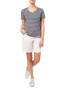 Dash Stripe Cotton Modal Top