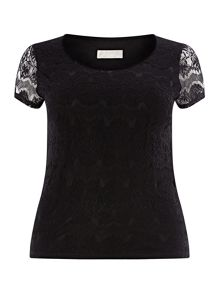 Windsmoor Black Lace Top