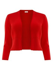 Red Pleated Shrug