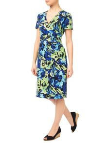 Precis Petite Multi Floral Jersey Dress