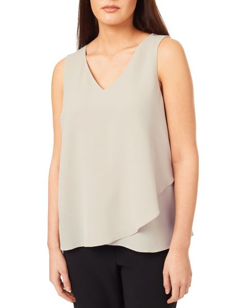 Windsmoor Woven Jersey Layered Top