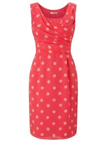 Jacques Vert Petite Shadow Spot Dress