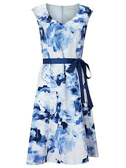 Floral Cotton Sateen Prom