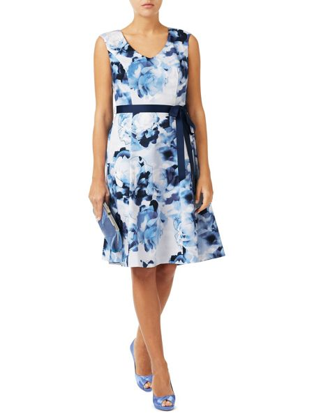 Jacques Vert Floral Cotton Sateen Prom