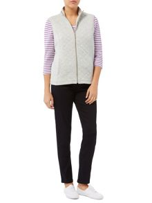 Dash Silver Rib Interlock Gilet