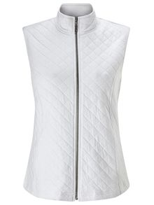 Dash White Ribside Interlock Gilet