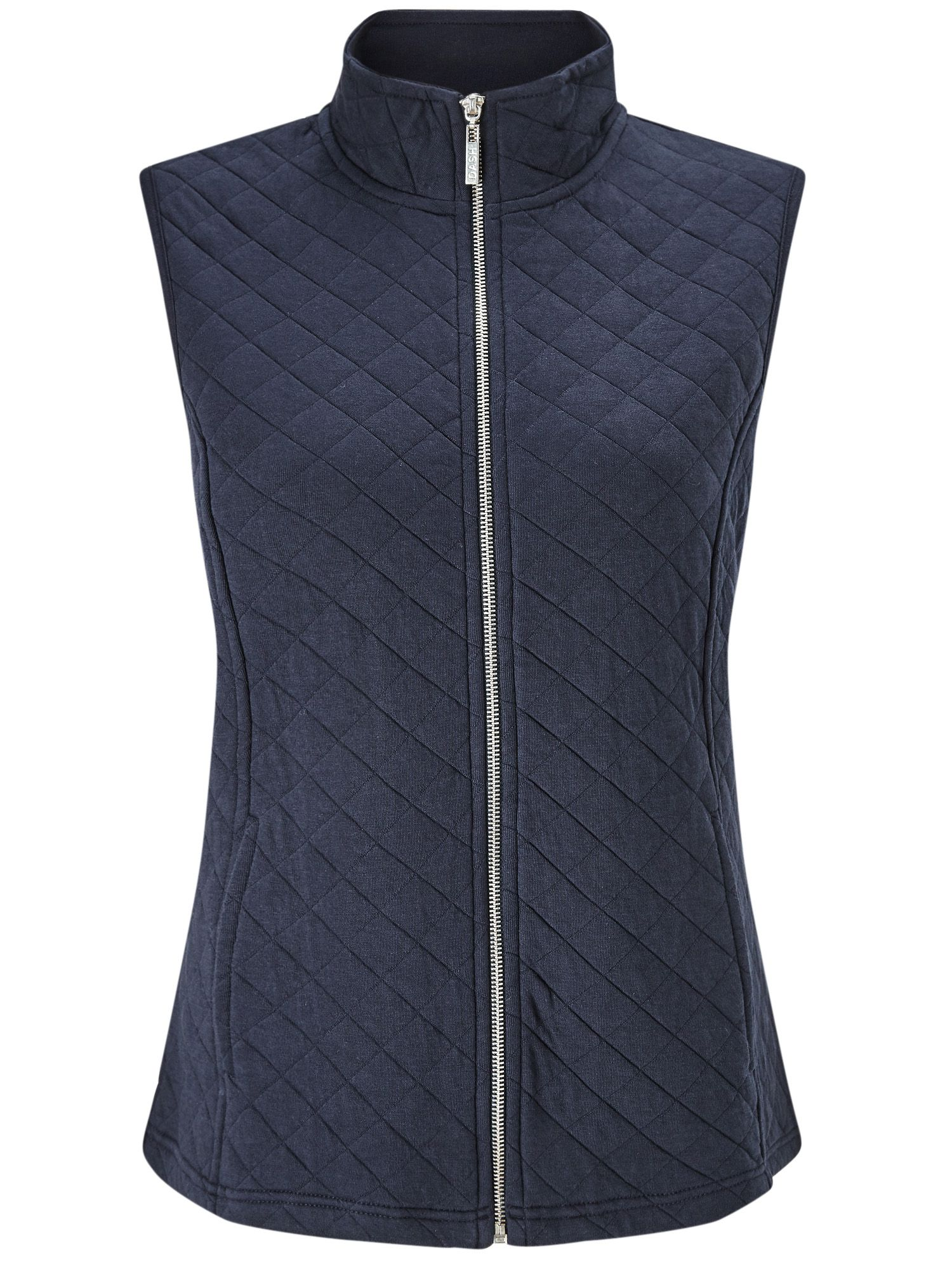 Dash Navy Ribside Interlock Gilet, Blue