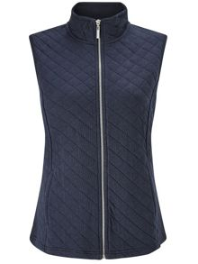 Dash Navy Ribside Interlock Gilet