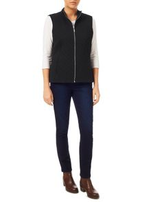 Dash Black Ribside Interlock Gilet