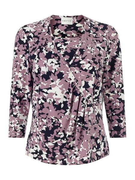 Eastex Shadow Blossom Wrap Top