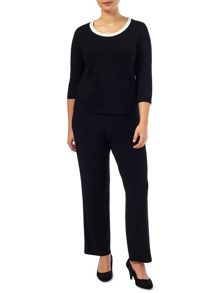 Windsmoor Contrast Neck Trim Top