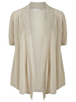 Linen Short Sleeve Cardigan