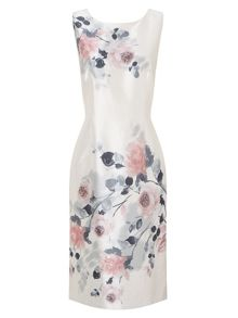 Jacques Vert Blushing Rose Placement Dress
