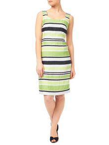 Precis Petite Crinkle Stripe Dress